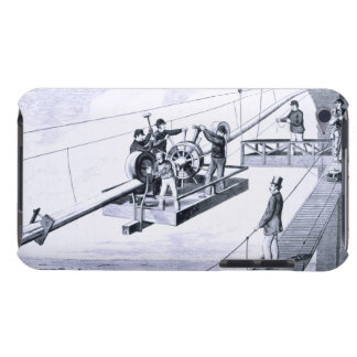 Construction of Brooklyn Bridge, New York (litho) Barely There iPod Cover