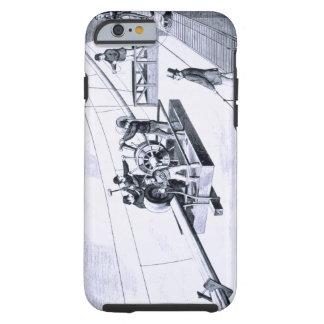 Construction of Brooklyn Bridge, New York (litho) Tough iPhone 6 Case
