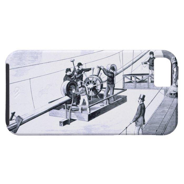 Construction of Brooklyn Bridge, New York (litho) iPhone SE/5/5s Case