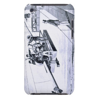Construction of Brooklyn Bridge, New York (litho) iPod Touch Cases