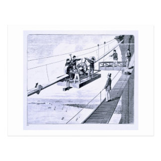Construction of Brooklyn Bridge New York litho Postcard