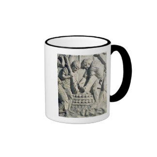 Construction of fortifications during campaign coffee mugs