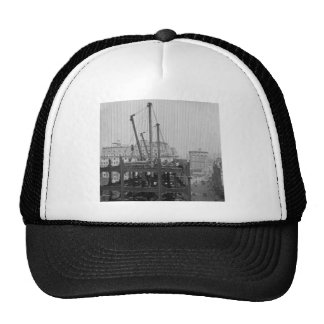 Construction of One Times Square New York City Mesh Hats
