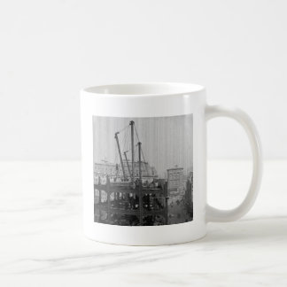 Construction of One Times Square New York City Coffee Mugs