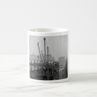 Construction of One Times Square New York City Mugs