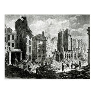 Construction of the Boulevard de Sebastopol Postcard