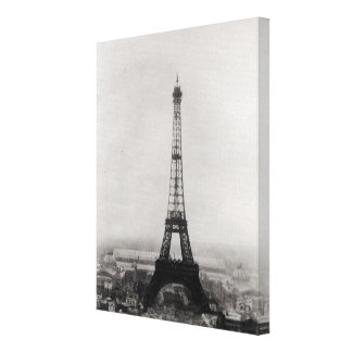 Construction of the Eiffel Tower Canvas Print