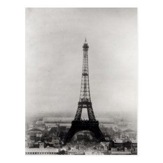 Construction of the Eiffel Tower Postcard
