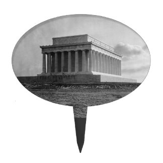 Construction of The Lincoln Memorial 1920 Cake Pick