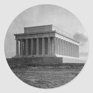 Construction of The Lincoln Memorial (1920) Classic Round Sticker