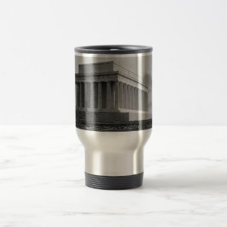 Construction of The Lincoln Memorial (1920) 15 Oz Stainless Steel Travel Mug