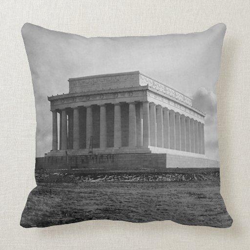 Construction of The Lincoln Memorial (1920) Pillows