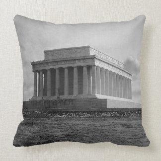 Construction of The Lincoln Memorial (1920) Throw Pillow