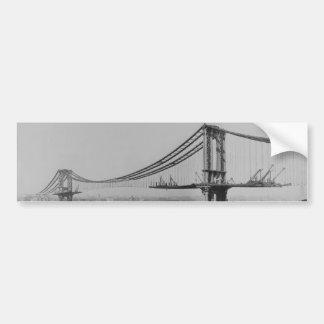 Construction of the Manhattan Bridge March 23 1909 Car Bumper Sticker