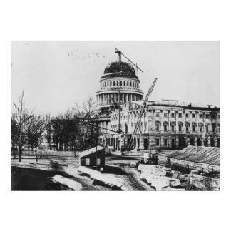 Construction of the U.S. Capitol Dome Photograph