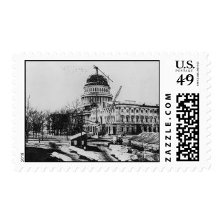 Construction of the U.S. Capitol Dome Stamp