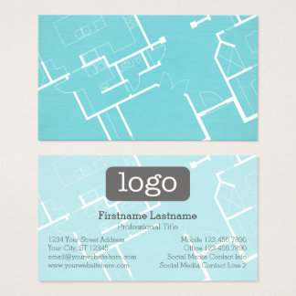 Blueprints business cards templates zazzle construction or architect blueprint and logo business card malvernweather