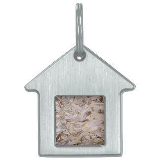 Construction OSB Plywood Style Pet ID Tag