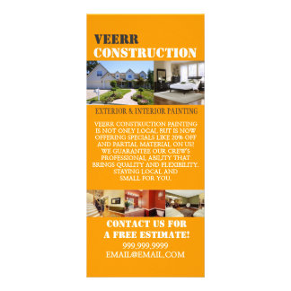 Construction Painting Interior Exterior Flyer Custom Rack Card