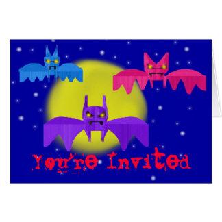 Construction Paper Bats Invitation