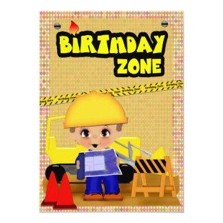 "Construction Party 5"" X 7"" Invitation Card"
