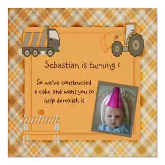 Construction Party Card