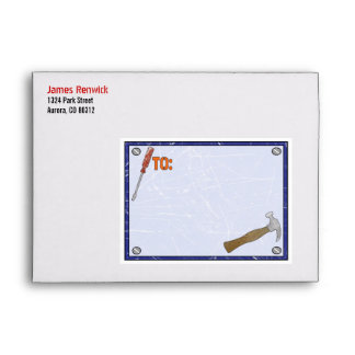 Construction Party Envelope for Invitation