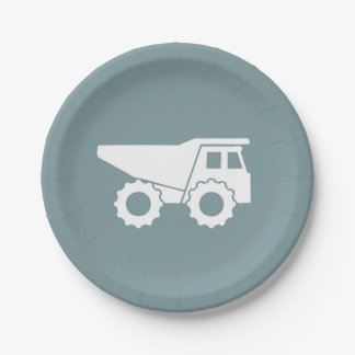 Construction Party Paper Plates- Dump Truck Plate