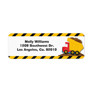 Construction Party Return Address Labels