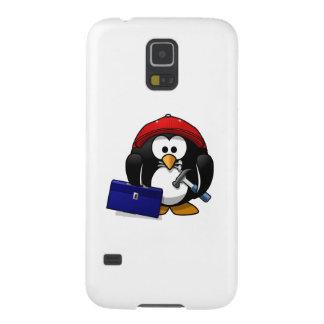 Construction Penguin Galaxy S5 Cover