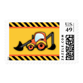 Construction Postage Stamps, Digger Postage
