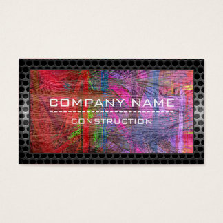 Construction Professional Modern Colorful Wood #11 Business Card