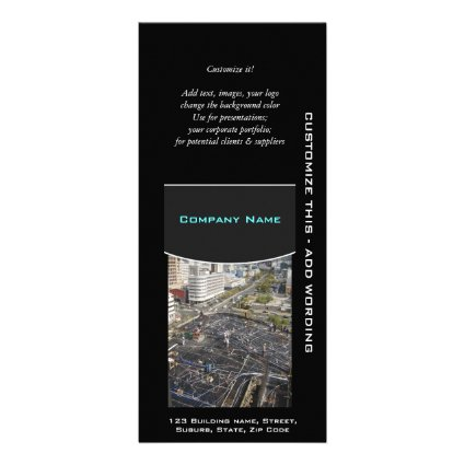 Construction property flyer commercial rack card