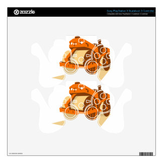 construction road roller retro skin for PS3 controller