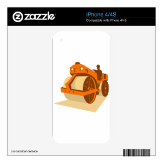 construction road roller retro skins for iPhone 4S