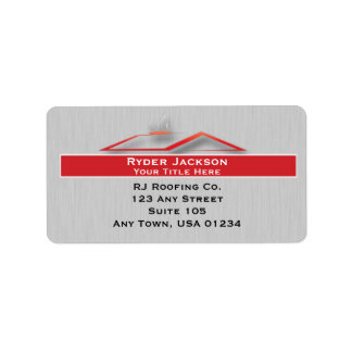 Construction Roofing Address Labels