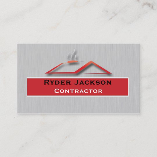 Construction roofing business card template zazzle construction roofing business card template reheart Image collections