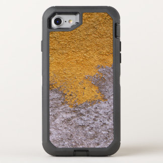 Construction Rough Beton Surface Grey Yellow OtterBox Defender iPhone 8/7 Case
