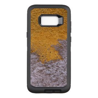 Construction Rough Beton Surface Grey Yellow OtterBox Defender Samsung Galaxy S8+ Case