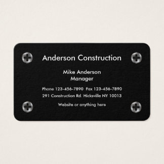 Construction Services Design Business Card