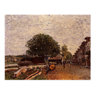 Construction Site at Saint Mammes by Alfred Sisley Postcard