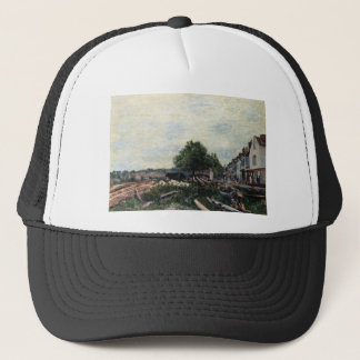 Construction Site at Saint Mammes by Alfred Sisley Trucker Hat