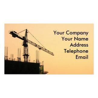 Construction Site at Sunset Double-Sided Standard Business Cards (Pack Of 100)