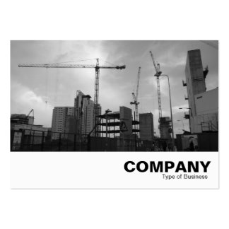 Construction Site Business Card Template
