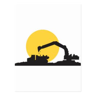 Construction Site Postcard