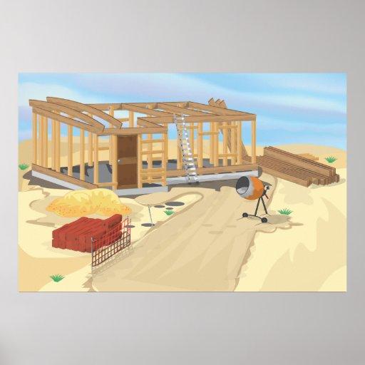 Construction Site Print