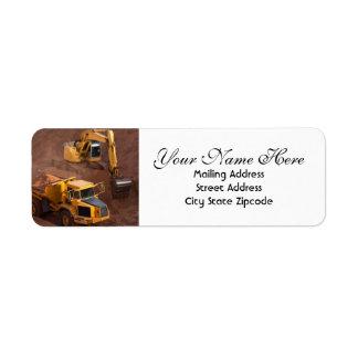 Construction Site Return Address Label