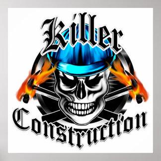 Construction Skull: Killer Construction Poster