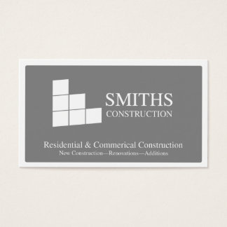 Construction sqaures business card
