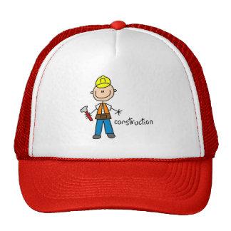 Construction Stick Figure Hat